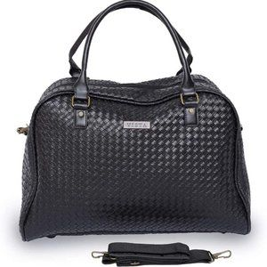 NWT Gbag Leather Carry-On Bag, Black